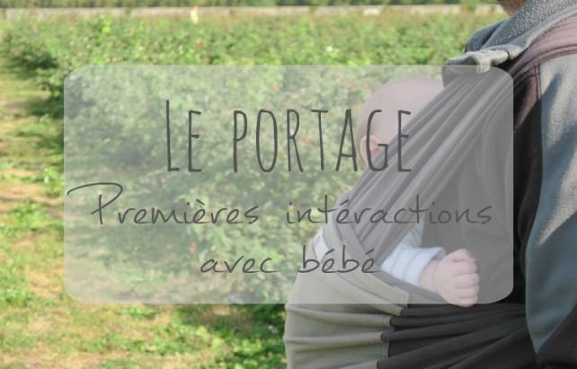 Le portage en écharpe interaction avec bébé