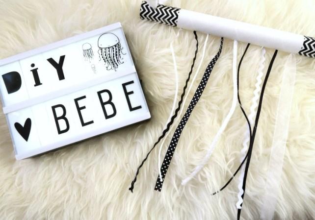 Mobile rubans Noir et blanc à fabriquer DIY