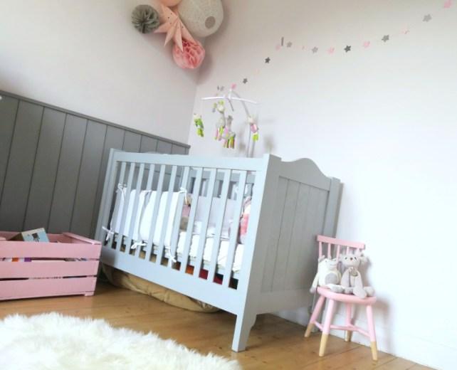 Chambre choupéta avec décoration DIY pinterest fille rose et gris