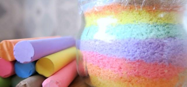 pots de sel coloré maison à fabriquer avec des enfants