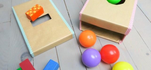 Boite de permanence de l'objet imbucare à fabriquer DIY jeu bébé