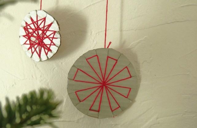 boule de Noël en carton DIY modèle triangle