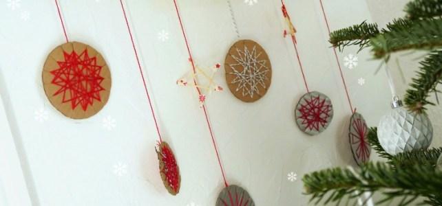 Nos jolies décorations de Noël en carton … [DIY]