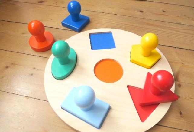 puzzles formes geometriques prehension facile bebe