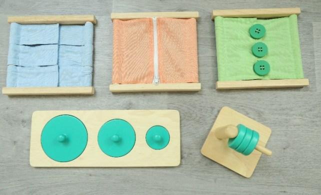 Materiel Montessori Oxybul pour bebe et debuter
