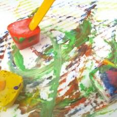 Peinture aux glaçons : Activité d'été #1