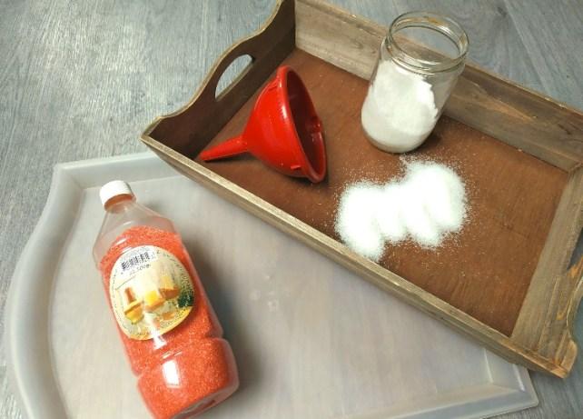 matériel pour atelier graphisme plateau de sel enfant