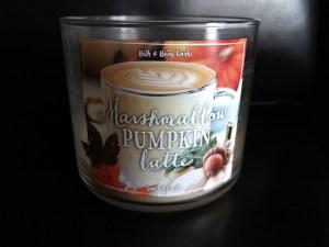 candle Marshmallow Pumpkin Latte