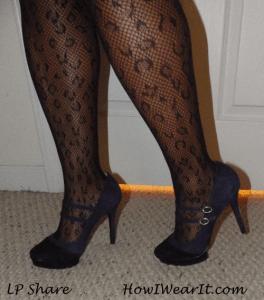 Cheetah print hose & heels!