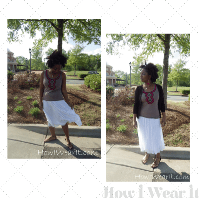 Womens Sweaters Tanks A Line Skirts Sandals on How I Wear It