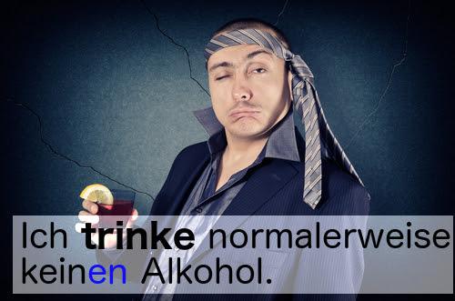 trinken (to drink)