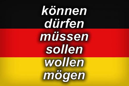 German modal verbs