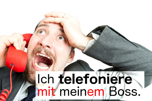 telefonieren (to have a phone call)