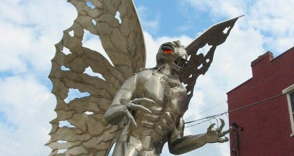 statue-mothman myths