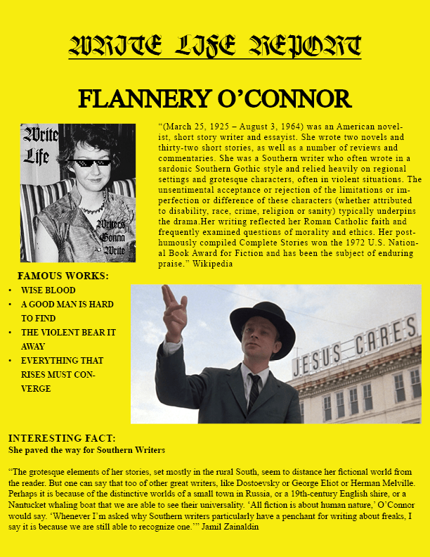 O'CONNOR REPORT ENTRY
