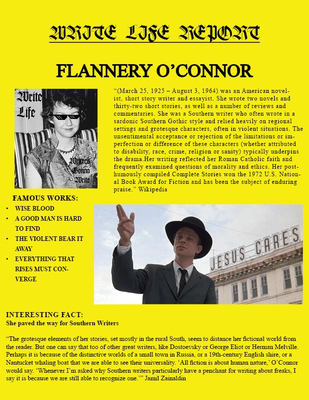 O'CONNOR REPORT ENTRY