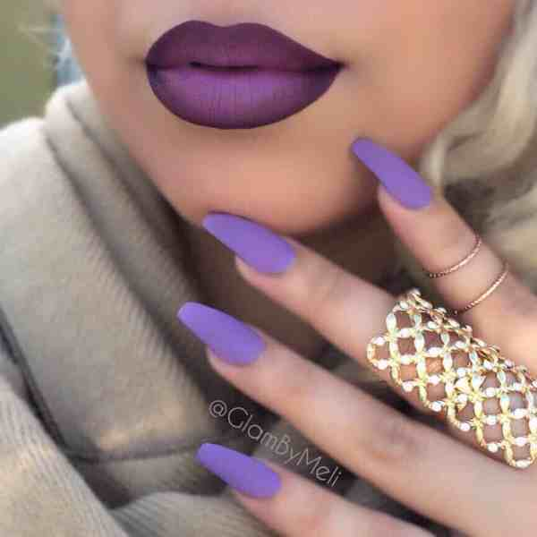 90+ Hottest Fall Frosted Coffin Nails Designs - HowLifeStyles