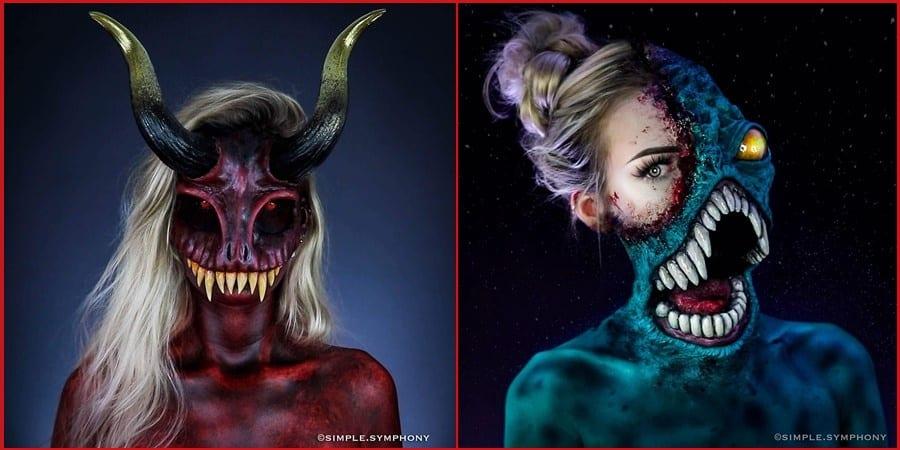 Scary Halloween Makeup - 70+ Scary Halloween Makeup Ideas 2019