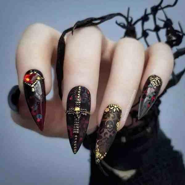 stiletto nails 2019121407 - 30+ Sharp Stiletto Nails Idea Very Cool