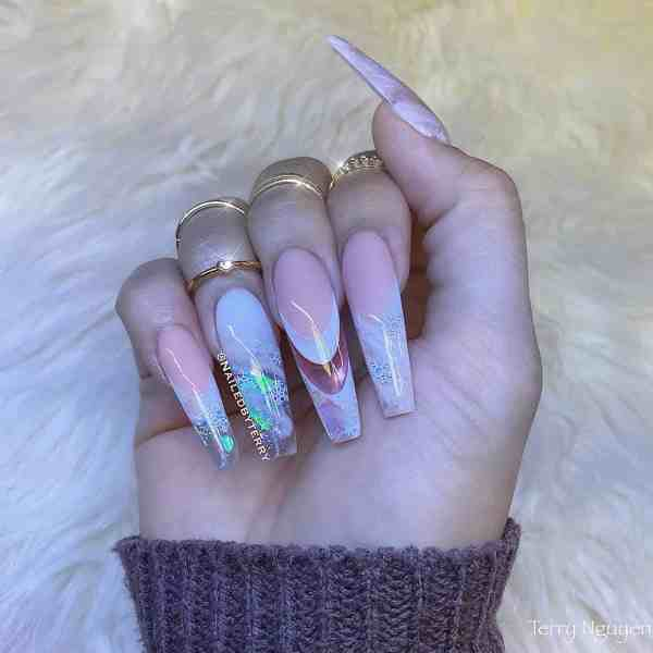 Winter Coffin Nail 2020011417 - 40+ Winter Coffin Nail Designs You Must Try