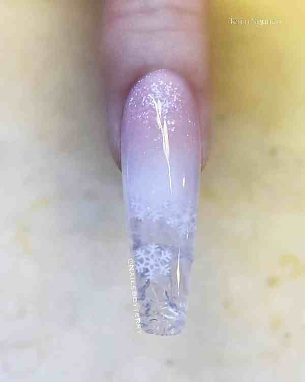 Winter Coffin Nail 2020011423 - 40+ Winter Coffin Nail Designs You Must Try