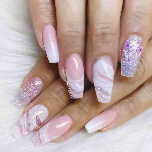 Winter Coffin Nail 2020011424 - 40+ Winter Coffin Nail Designs You Must Try