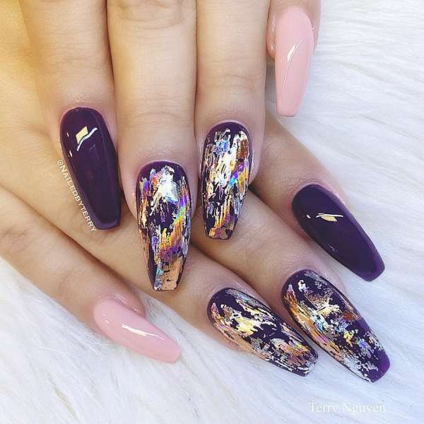 Winter Coffin Nail 2020011426 - 40+ Winter Coffin Nail Designs You Must Try