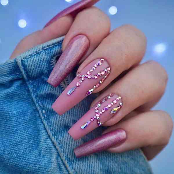 Winter Coffin Nail 2020011432 - 40+ Winter Coffin Nail Designs You Must Try