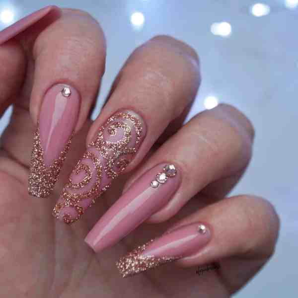 Winter Coffin Nail 2020011443 - 40+ Winter Coffin Nail Designs You Must Try