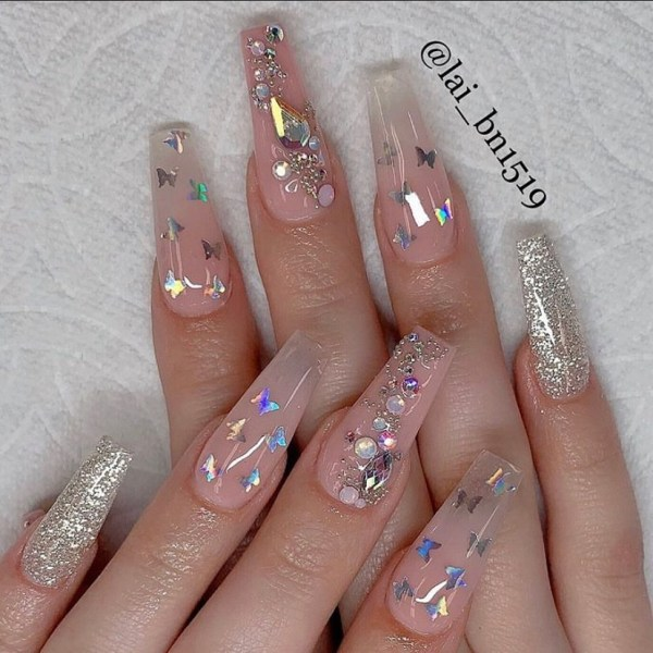 long coffin nail 2020013134 - 80+ Charming Long Coffin Nail Designs in 2020