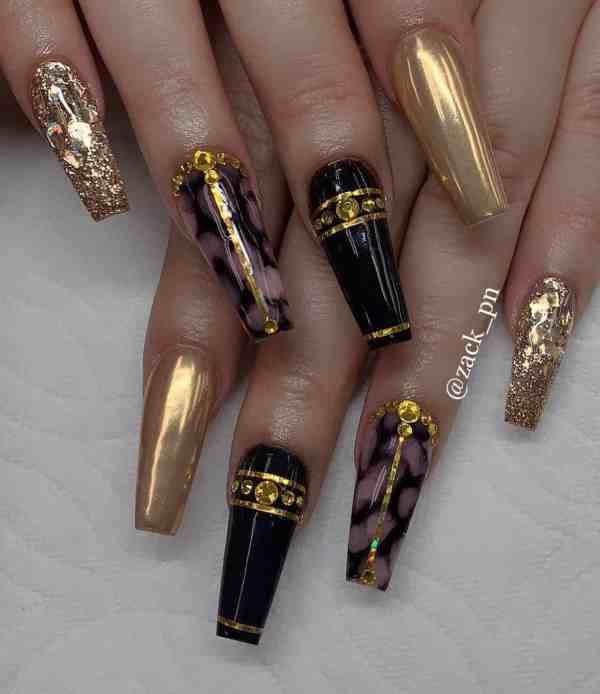 long coffin nail 2020013142 - 80+ Charming Long Coffin Nail Designs in 2020