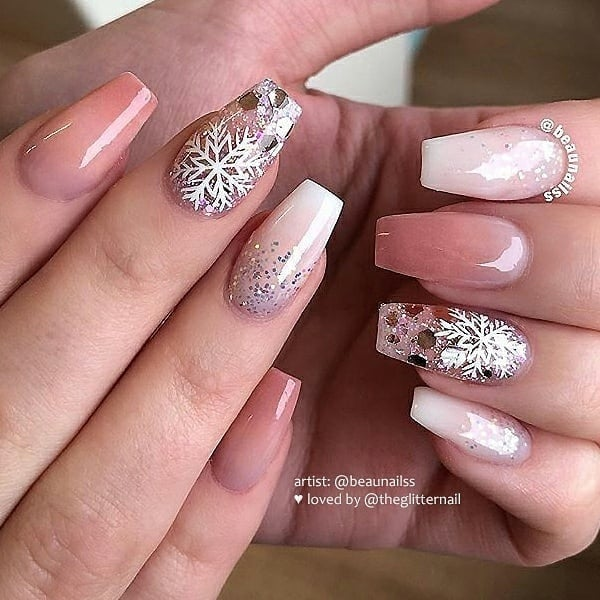 winter nail 2020020180 - 190+ Amazing Spring And Winter Nail Designs Ideas