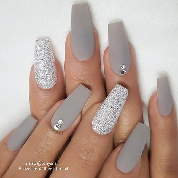 winter nail 2020020188 - 190+ Amazing Spring And Winter Nail Designs Ideas