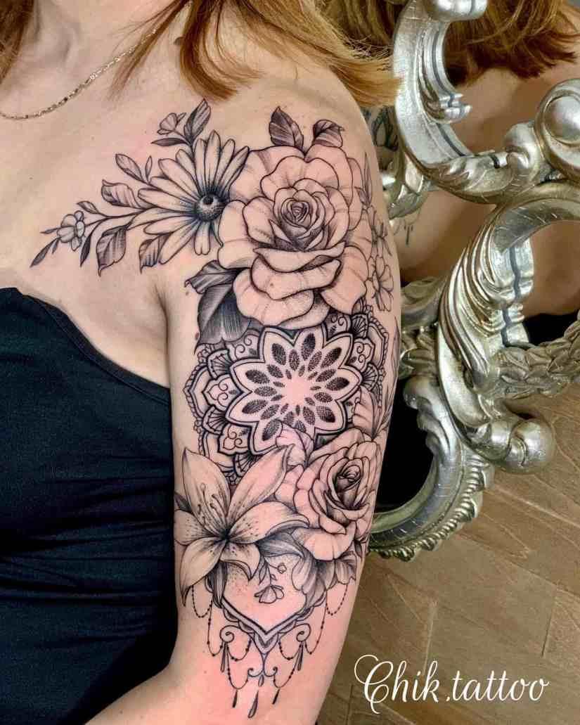 Arm Tattoo 2020030102 - Trendy Arm Tattoo Ideas for Women