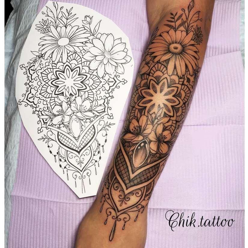 Arm Tattoo 2020030107 - Trendy Arm Tattoo Ideas for Women