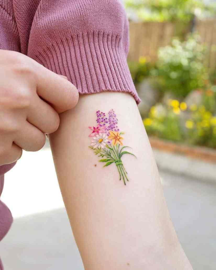 Daisy Tattoo 2020062812 - The Best Daisy Tattoo Ideas and Meaning