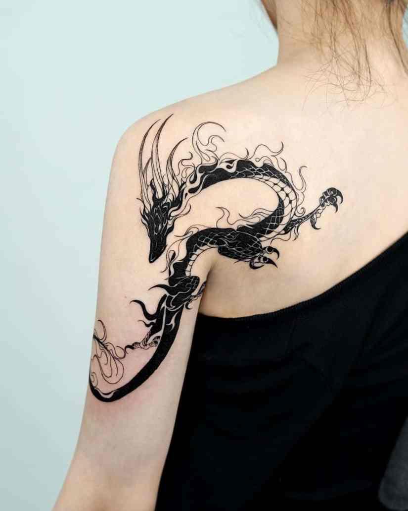 Dragon tattoo 2020042705 - Best Dragon Tattoo Ideas 2020 Inspiration Guide