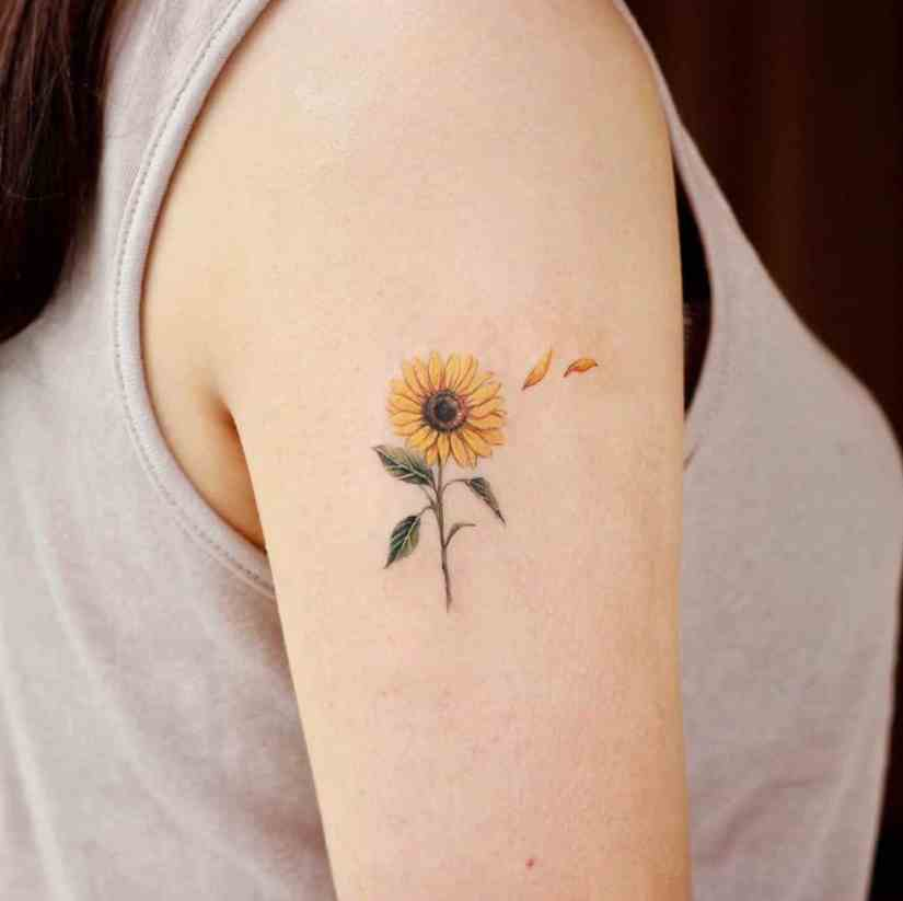 Sunflower Tattoo Designs 2020061203 - Inspirational Sunflower Tattoo Designs 2020