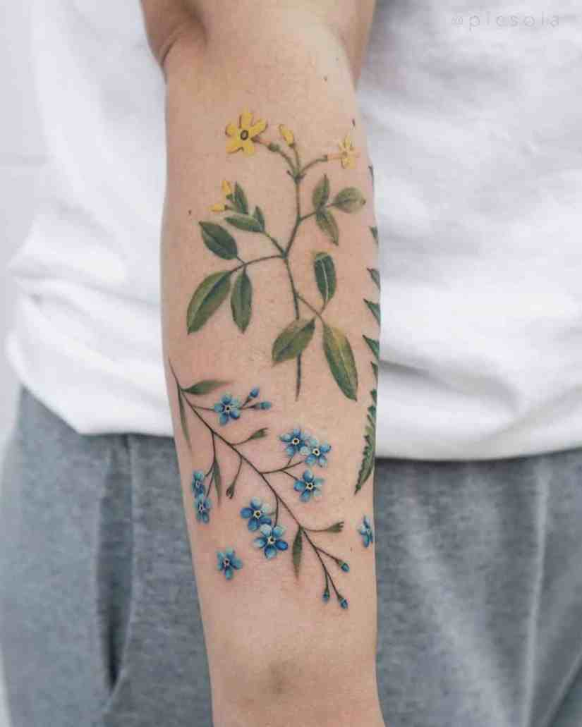 Forget Me Not Tattoo 2020072211 - 10+ The Best Forget-Me-Not Tattoo Designs