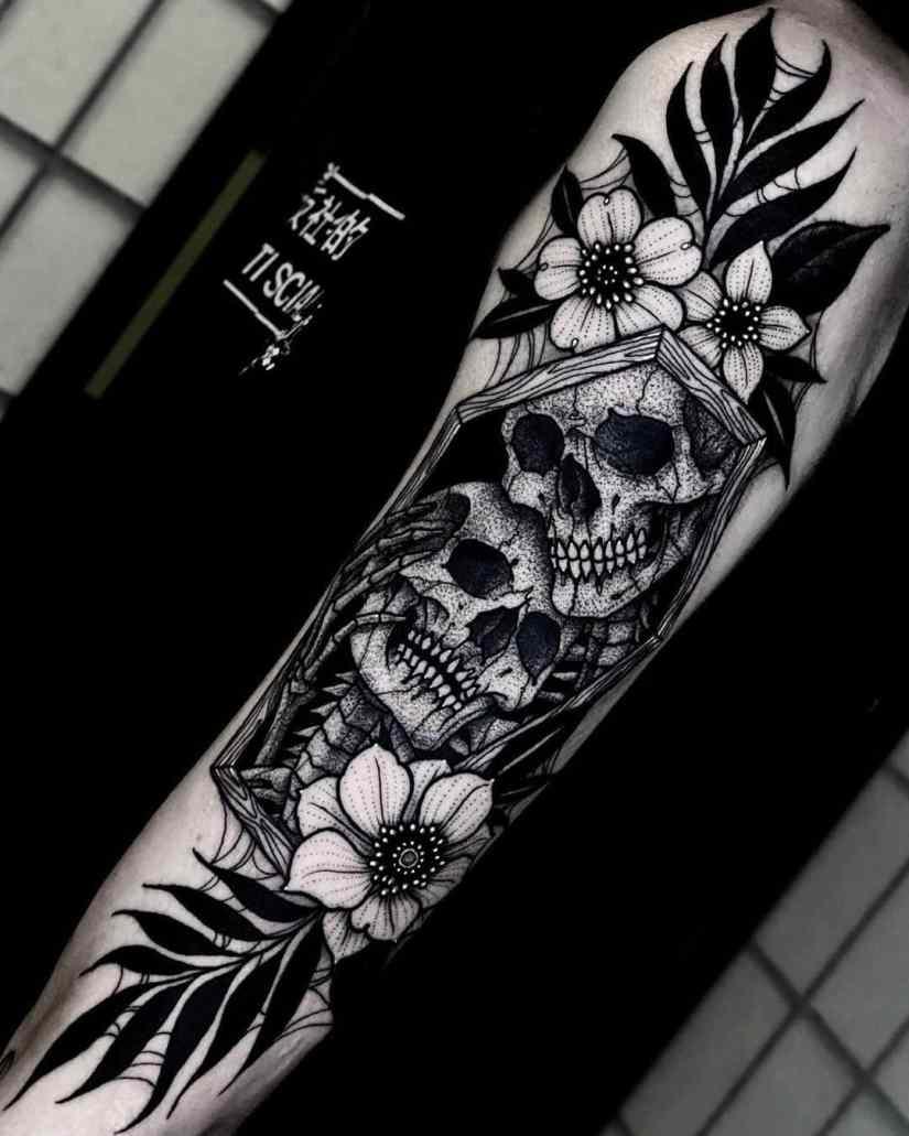 skull tattoo 2020070509 - 10 Best Skull Tattoo Designs and Meaning