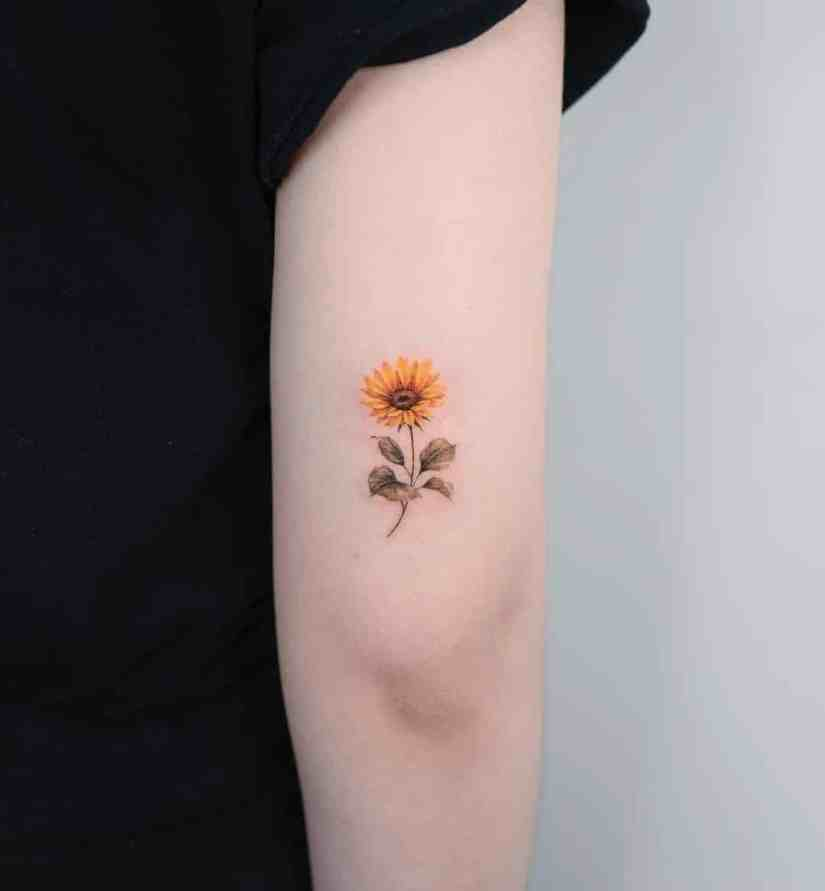 sunflower tattoo ideas 2020070401 - The Best Sunflower Tattoo Ideas and Meaning