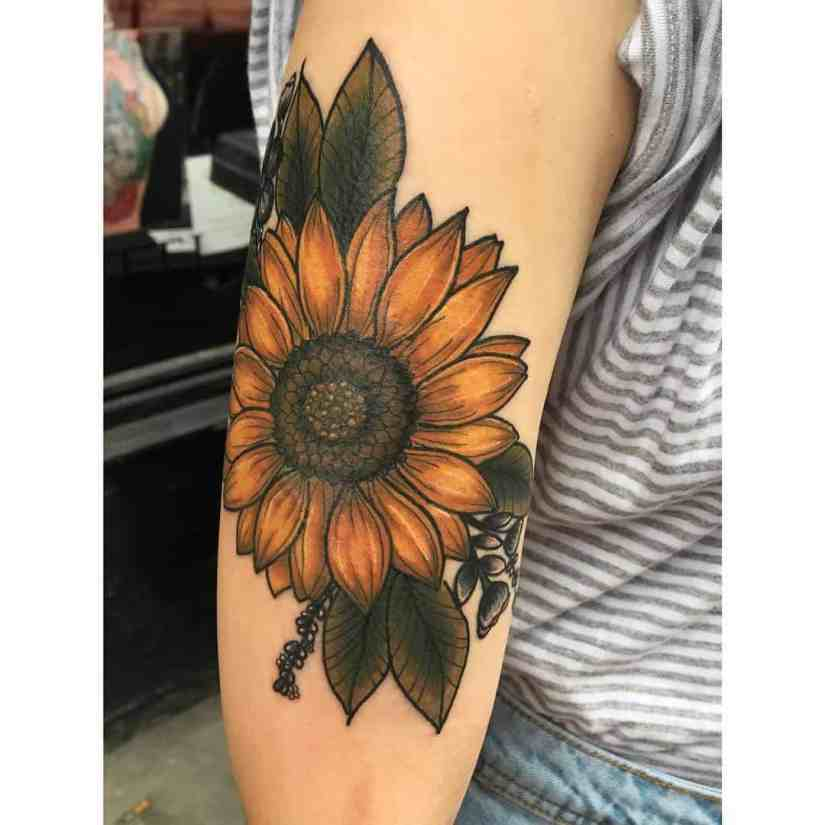 sunflower tattoo ideas 2020070408 - The Best Sunflower Tattoo Ideas and Meaning