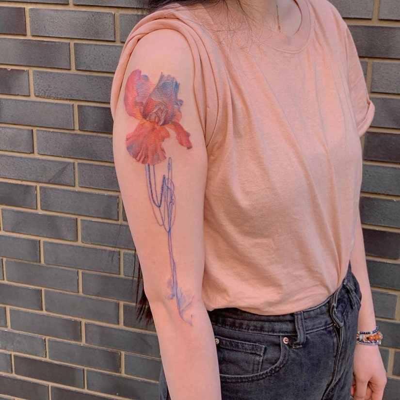 Iris Tattoo 2020082702 - 10 Best Iris Tattoo Designs and Meanings