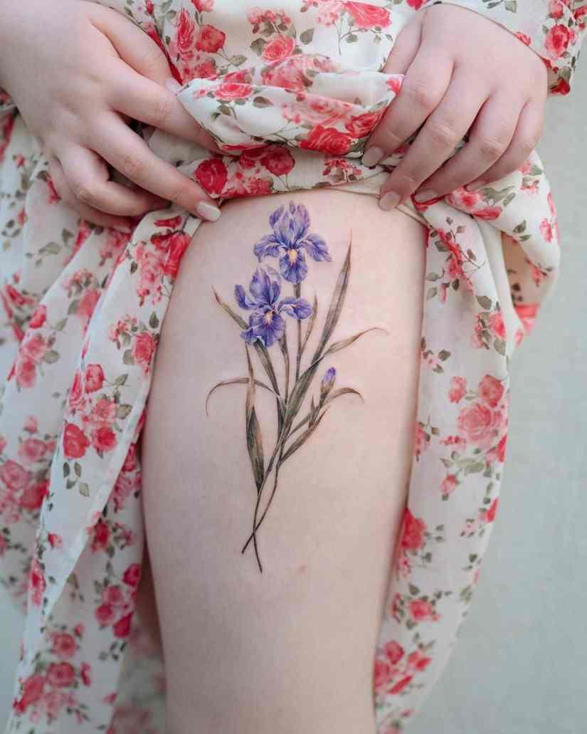 Iris Tattoo 2020082704 - 10 Best Iris Tattoo Designs and Meanings