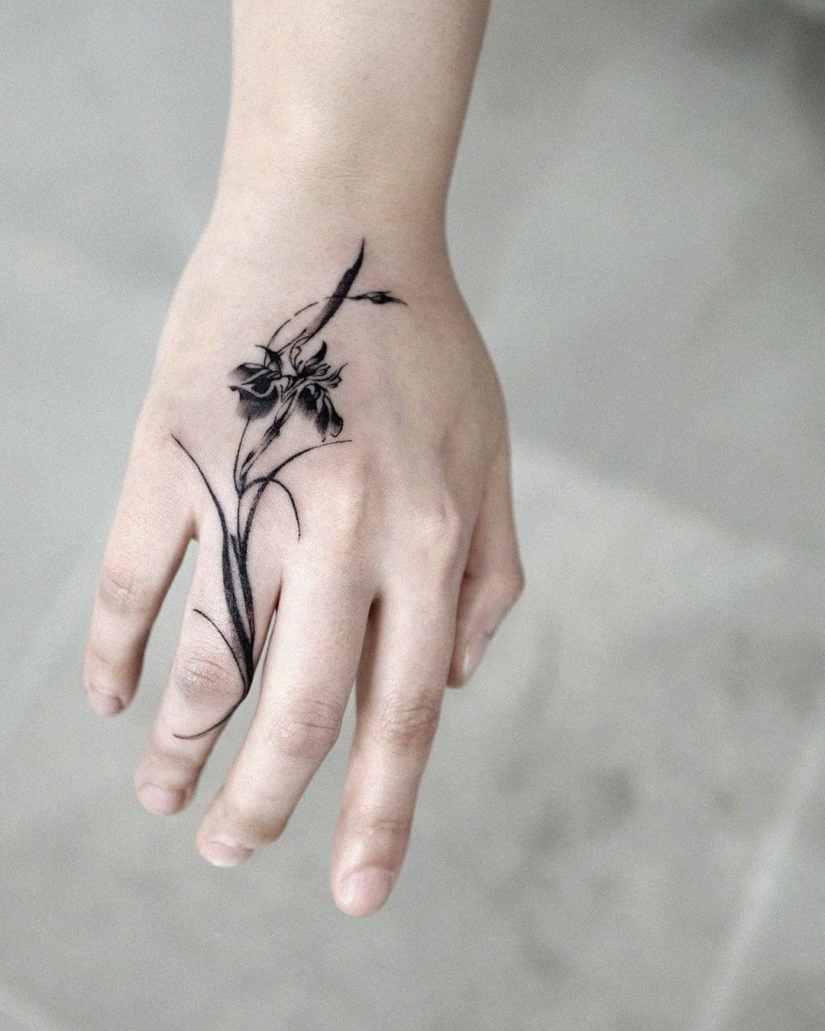 Iris Tattoo 2020082706 - 10 Best Iris Tattoo Designs and Meanings