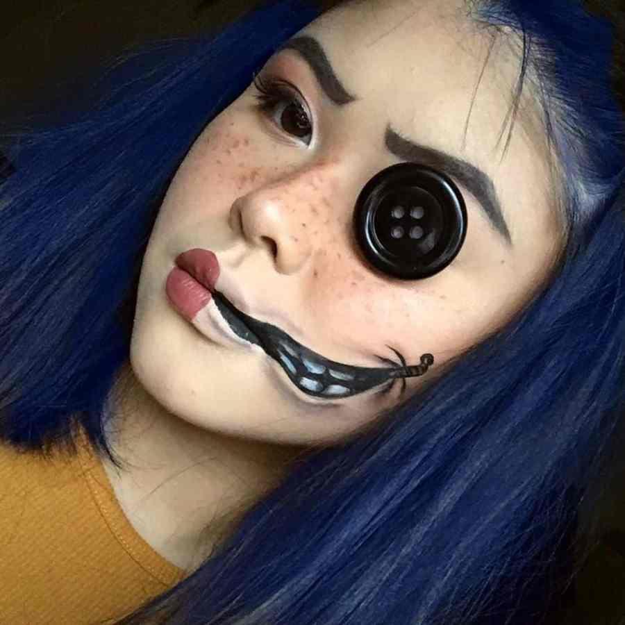 Coraline Makeup 2020090304 - Other Coraline Makeup for Halloween