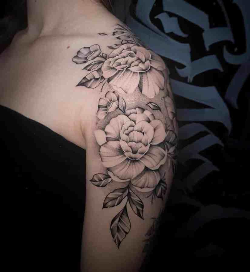 Peony Tattoo 2020091403 - 15 Gorgeous Peony Tattoo Ideas and Meanings