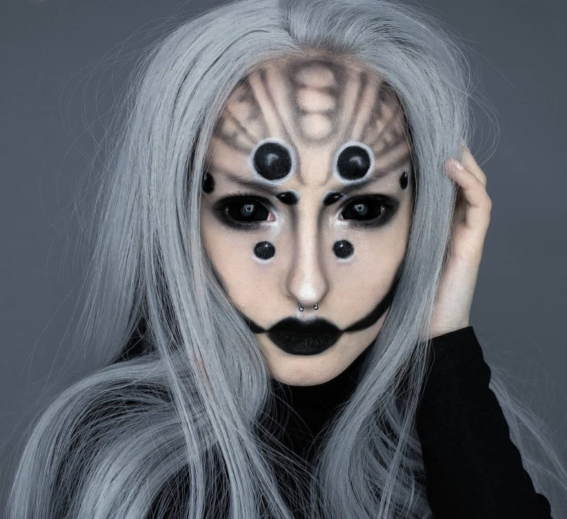 spider makeup 2020090705 - 20+ Creepy Spider Makeup for Halloween 2020