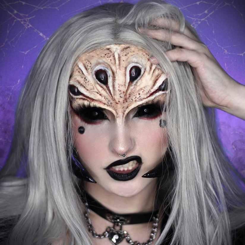 spider makeup 2020090706 - 20+ Creepy Spider Makeup for Halloween 2020