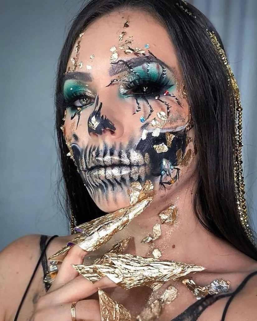 spider makeup 2020090709 - 20+ Creepy Spider Makeup for Halloween 2020